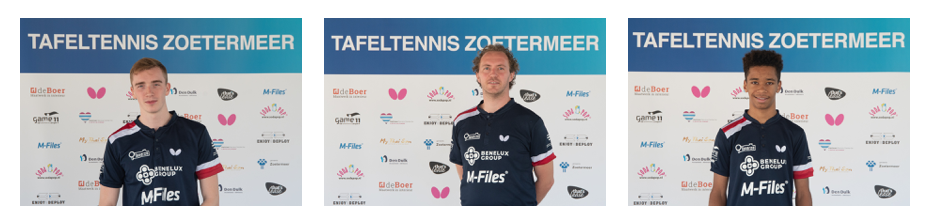 Tafeltennis team Benelux Group Taverzo